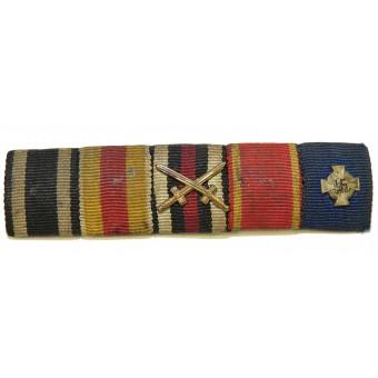 3rd Reich ribbon bar of WW1 Baden veteran