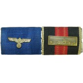 4 years in the Wehrmacht and  Anschlüss Protektorat with Prague clasp, ribbon bar