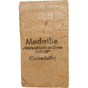 Bag of issue for Ostmedaille by Klein & Quenzer. Espenlaub militaria