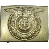 Early SS-VT or SS-TV belt buckle. Nickel