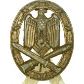 General assault badge with solid silvering, hollow.