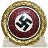 Golden party badge of NSDAP-Goldenes Ehrenzeichen der NSDAP.