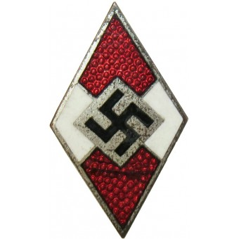 Hitlerjugend member badge M1/93 RZM marked-Gottlieb Friedrich Keck & Sohn. Espenlaub militaria
