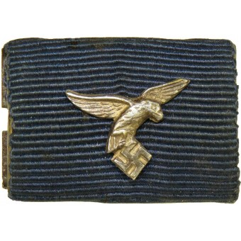 Luftwaffe 4 years Long service medal with miniature LW eagle ribbon bar. Espenlaub militaria