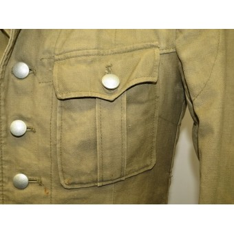 Wehrmacht Heer DAK Panzer Tropical Feldbluse M 40, tunic and breeches