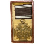 NSDAP Long Service Award for 10 Years with Box of issue by Wilhelm Deumer-Lüdenscheid