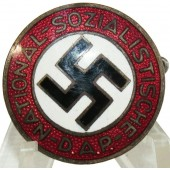 NSDAP member badge marked 6.  Producer - Karl Hensler