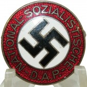 "NSDAP party member pin, transitional type, pre ""M/1"",  maker marked: 39 RZM - Robert Beck"