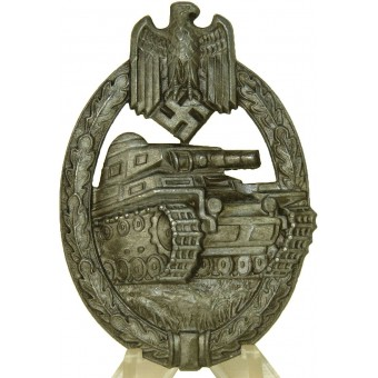 Panzer assault Badge Panzerkampfabzeichen Silver Grade by Hermann Aurich Co. Espenlaub militaria