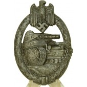 Panzer assault Badge Panzerkampfabzeichen Silver Grade by Hermann Aurich Co