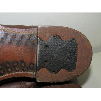 Red Army/RKKA brown leather boots, Lend-lease, US made, 1941. Mint.. Espenlaub militaria