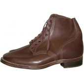 Red Army/RKKA brown leather boots, Lend-lease, US made, 1941. Mint.