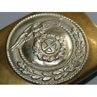 SA buckle, two piece construction, Sonnenrad swastika. Espenlaub militaria