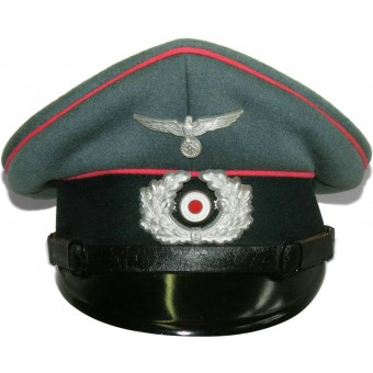 Wehrmacht Heer armored troops pink piped visor hat for enlisted men. Espenlaub militaria