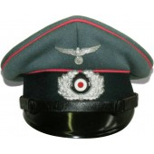 Wehrmacht Heer armored troops pink piped visor hat for enlisted men