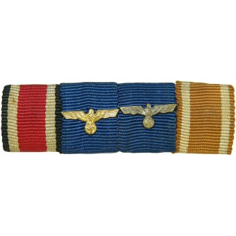 Wehrmacht ribbon bar with 4 medals. Espenlaub militaria
