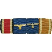 Wehrmacht ribbon bar with 4 medals