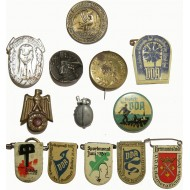 13 assorted badges from the 3rd Reich WHW series