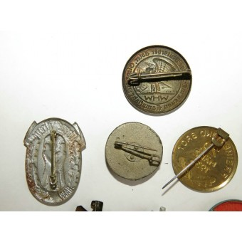 13 assorted badges from the 3rd Reich WHW series. Espenlaub militaria