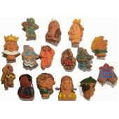 15 clay figurines, badges of the WHW series. 3rd Reich