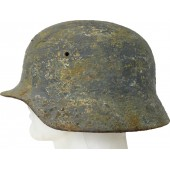 Battlefield found Luftwaffe camo steel helmet