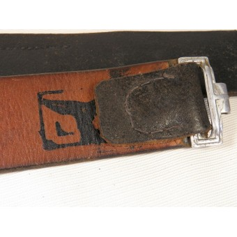 German leather belt for combat equipment. Espenlaub militaria