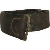 German leather belt for field equipment from the First World War