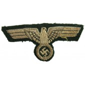 High quality early silvered copper bullion hand-embroidered Wehrmacht breast eagle