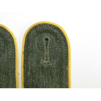 Wehrmacht shoulder straps for the private of signals troops for the summer cotton Drilich. Espenlaub militaria