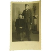 Latvian Waffen SS soldier with the wife