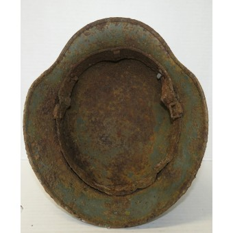 SS Double Decal steel helmet m35, Q66, battlefield found in Kurland