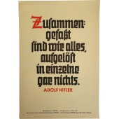 Weekly saying of the NSDAP, poster with A.Hitler sayings.