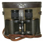 Red Army binocular, 1945 with original carrying cover.