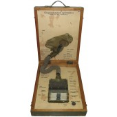War time Soviet SchM gas mask with filter training-education set.