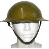 WW2 Blockaded Leningrad made air-defence steel helmet