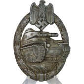Assmann Tank Assault Badge, silver class, hollow