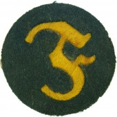 Wehrmacht Pyrotechnician trade/award arm patch, specialist on the ordinance