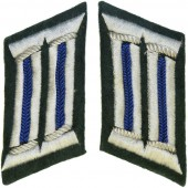 Late war machine woven medical officers collar tabs.