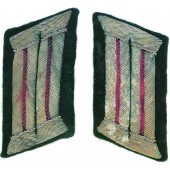 Wehrmacht Heer (Army) Headquarter or Veterinary service salty collar tabs