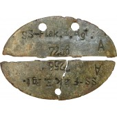 Waffen SS soldier dogtag, SS Flak.E.Rgt.