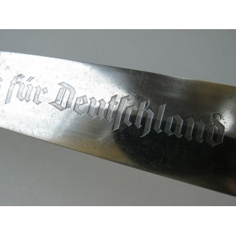 Early SA 1933 dagger with anodized scabbard. Fully completed dagger by Carl Eickhorn. Espenlaub militaria