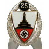 Deutscher Reichskriegerbund Kyffhäuser- DRKB. Silver honor badge for 25 years
