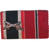 Ribbon bar for eastern front veteran awarded with KVK2, and Eastern campaign medal