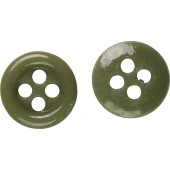 3rd Reich khaki ceramic buttons 11 mm for shirts