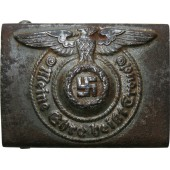 Waffen SS steel buckle marked SS 155/40 RZM by Maker: Assmann & Söhne