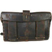 Imperial Russian or early RKKA brown leather M 1891 rifle ammo pouch