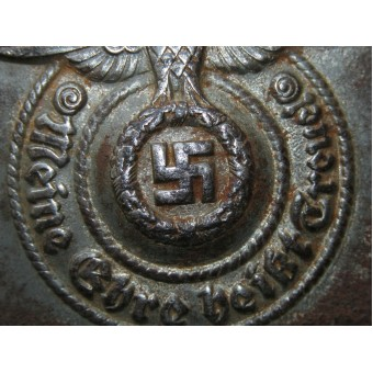 Waffen SS steel buckle marked SS 155/40 RZM by Maker: Assmann & Söhne. Espenlaub militaria