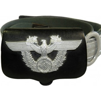 3rd Reich Police parade cartouche with eagle badge and strap.. Espenlaub militaria