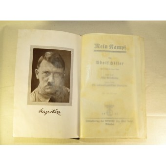 Adolf Hitler - Mein Kampf.  Original issue, 254-258 Auflage from 1937. Espenlaub militaria