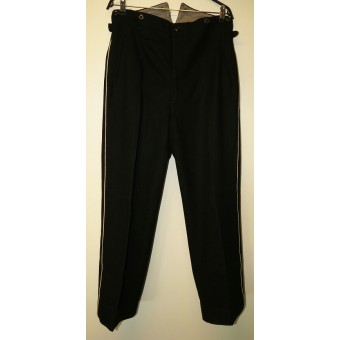 Allgemeine SS or SS-VT black, white piped straight trousers.
